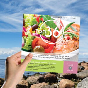 Kuopion Liikekirjapaino painaa flyerit tuotteidesi tai palvelujesi mainostamiseen. Kuvassa flyer koossa 140x140 mm.