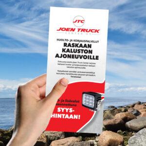 Kuopion Liikekirjapaino painaa flyerit tuotteidesi tai palvelujesi mainostamiseen. Kuvassa flyer koossa 99x210 mm.