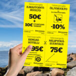 Kuopion Liikekirjapaino painaa flyerit tuotteidesi tai palvelujesi mainostamiseen. Kuvassa flyer koossa A5.