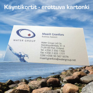 Kuopion Liikekirjapainosta tilaat käyntikortit nopeasti ja edullisesti.