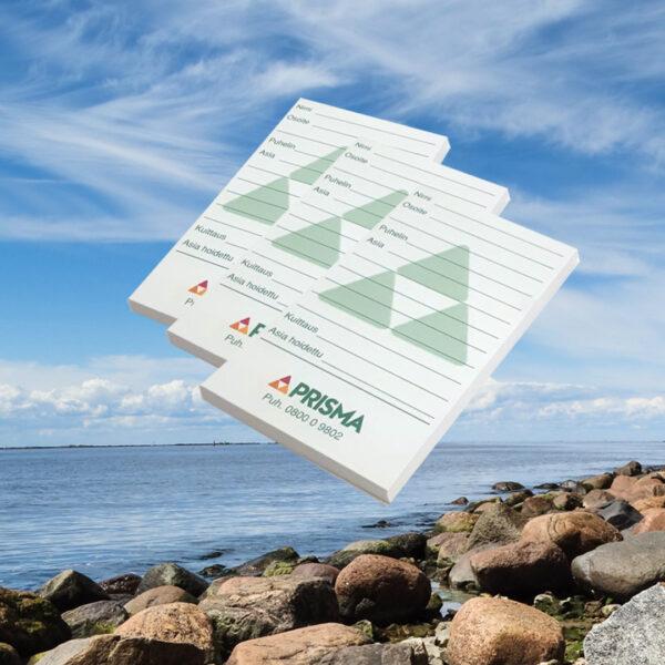 Kuopion Liikekirjapaino painaa liimasidotut mainosblokit.