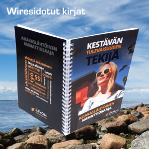 Kuopion Liikekirjapaino valmistaa wiresidotut kirjat.