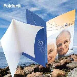 Kuopion Liikekirjapaino painaa folderit.