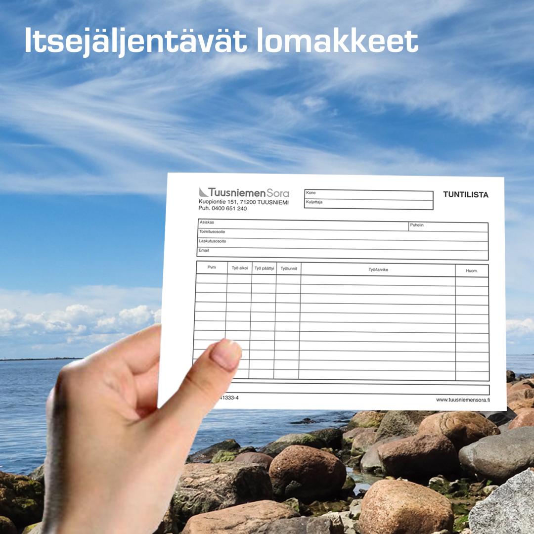 Kuopion Liikekirjapaino itsejäljentävät lomakkeet