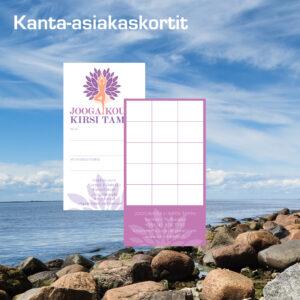 Kuopion Liikekirjapaino painaa kanta-asiakaskortit.