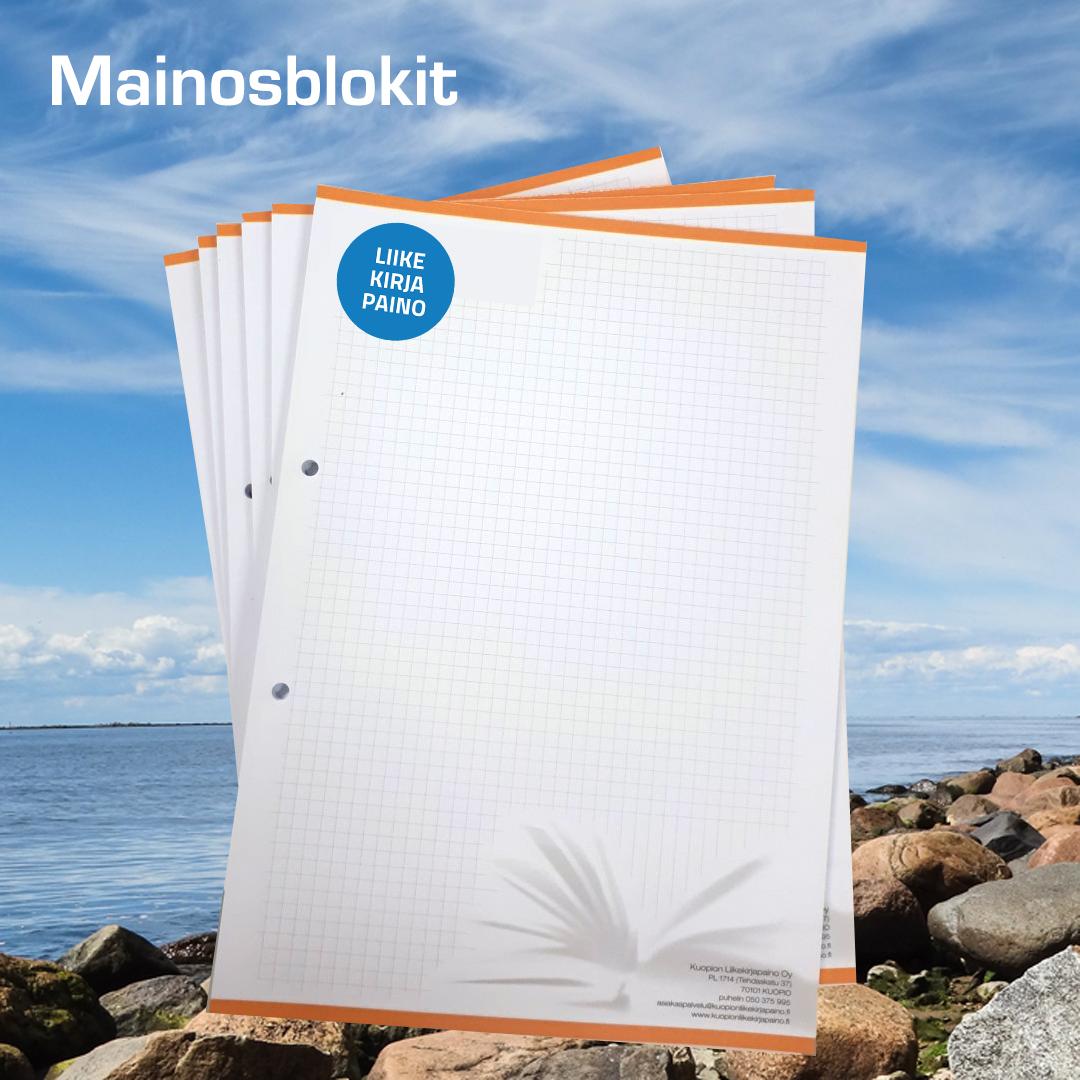 Kuopion Liikekirjapaino mainosblokkivihkot