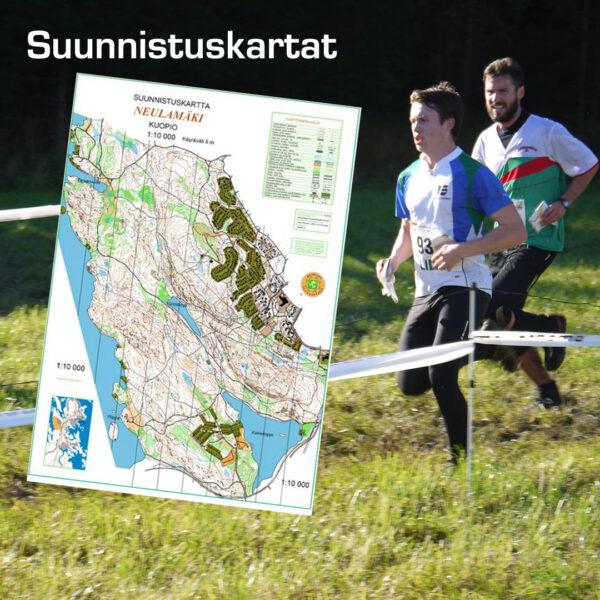 Kuopion Liikekirjapainosta tilaat suunnistuskartat.