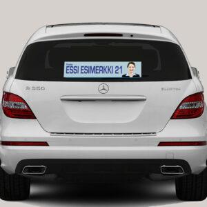 Vaalit - auton takaikkunatarrat