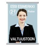 Vaalijuliste Kuopion Liikekirjapaino Oy